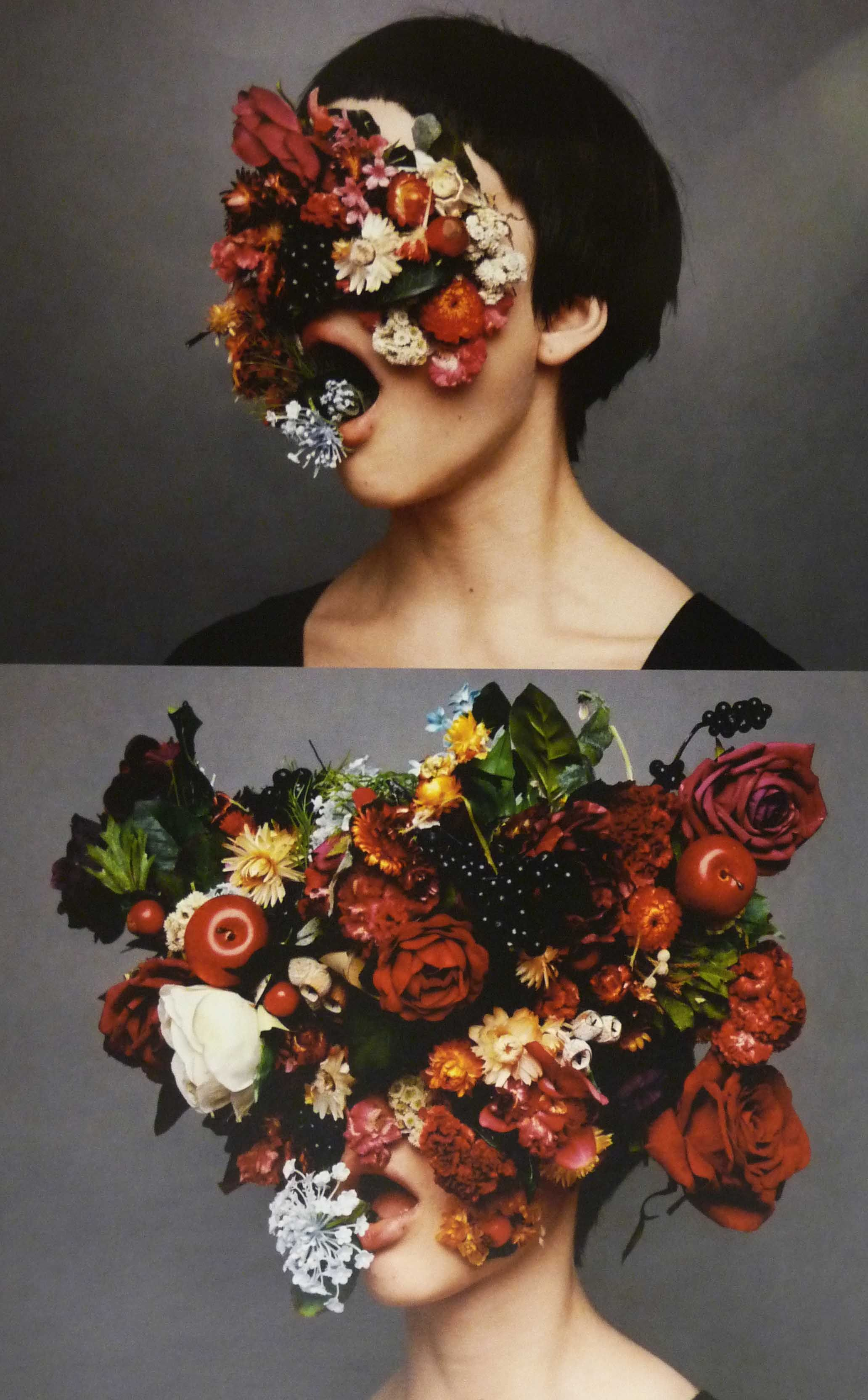 LaFloret Be Noisy ad campaign flower face